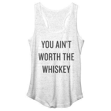 Cole Swindell Ain't Worth The Whiskey Racerback Tank