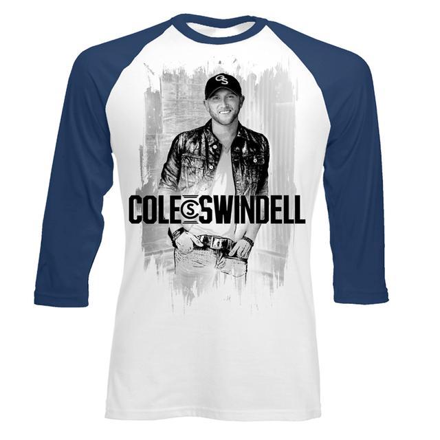 Cole Swindell Sketch Photo Baseball T-Shirt