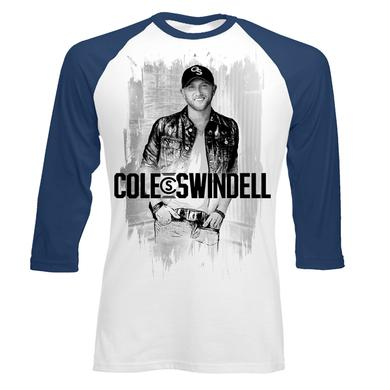 Cole Swindell Sketch Photo Baseball T-Shirt