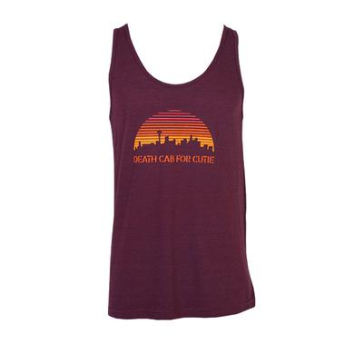 Death Cab For Cutie Seattle Skyline Slim Fit Tank