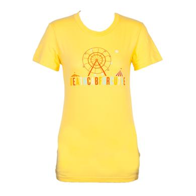 Death Cab For Cutie Ferris Wheel Juniors T-Shirt (Yellow)