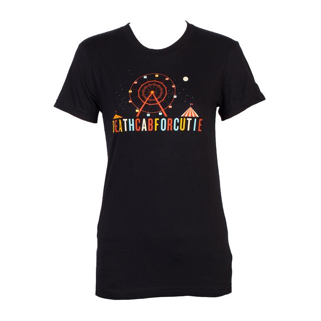 Death Cab For Cutie Ferris Wheel Juniors T-Shirt (Black)
