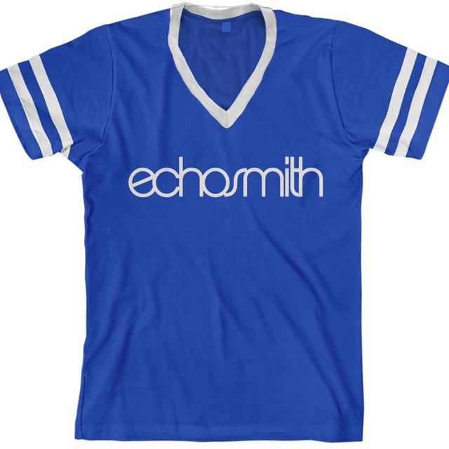 Echosmith Logo Striped V-Neck T-Shirt