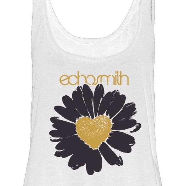 Echosmith Daisy Heart Tank White