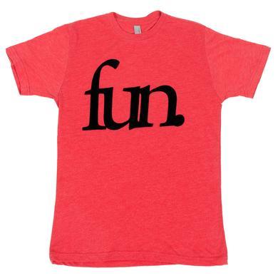 Fun. Traditional Logo Flock T-Shirt