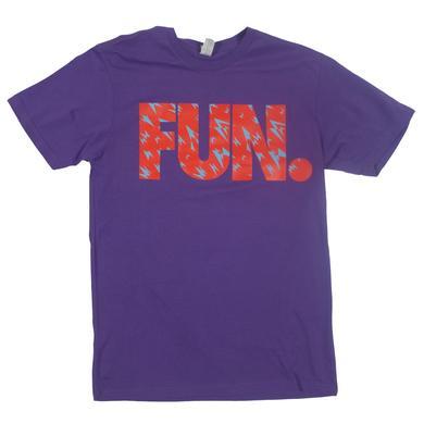 Fun. Shard Pattern Purple T-Shirt