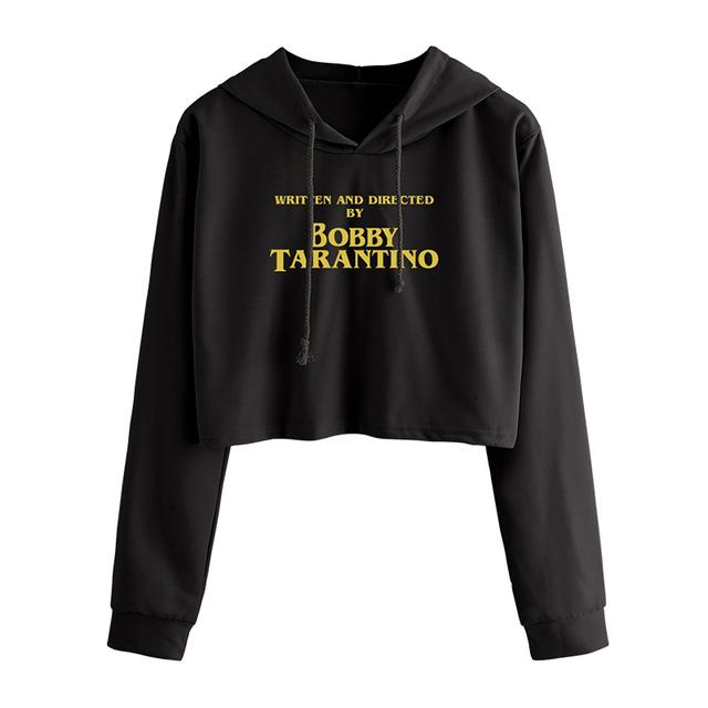 Logic Written and Directed Crop Hoodie