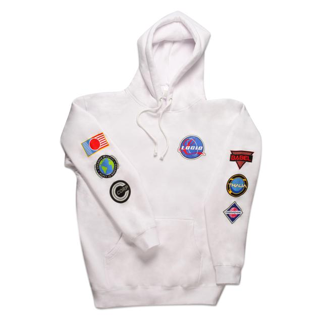 Logic Space Patches Pullover Hoodie White