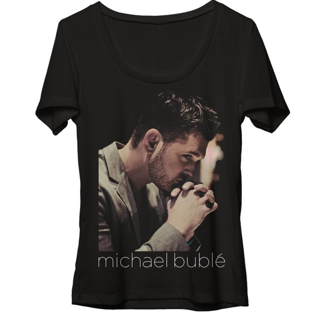 Michael Buble Clasped Hands Dolman T-Shirt
