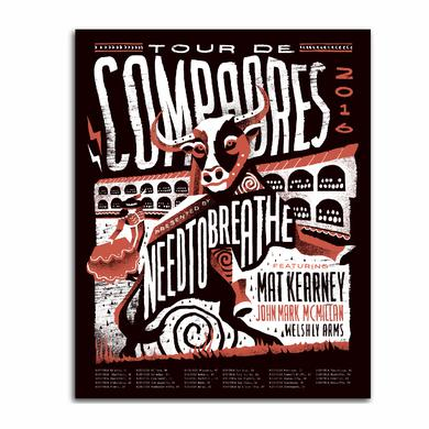 "Needtobreathe TDC Tour Poster 2016 Leg One (16""X20"")"