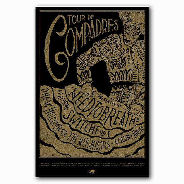 Needtobreathe Tour de Compadres Poster (2015 tour featuring Switchfoot)