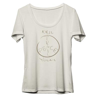 Neil Young Peace Trail Organic Womens Scoop Neck T-shirt