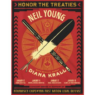 Neil Young Honor The Treaties Poster