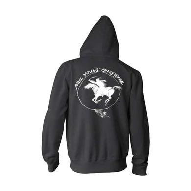 Neil Young Crazy Horse Printed ORGANIC Hoodie