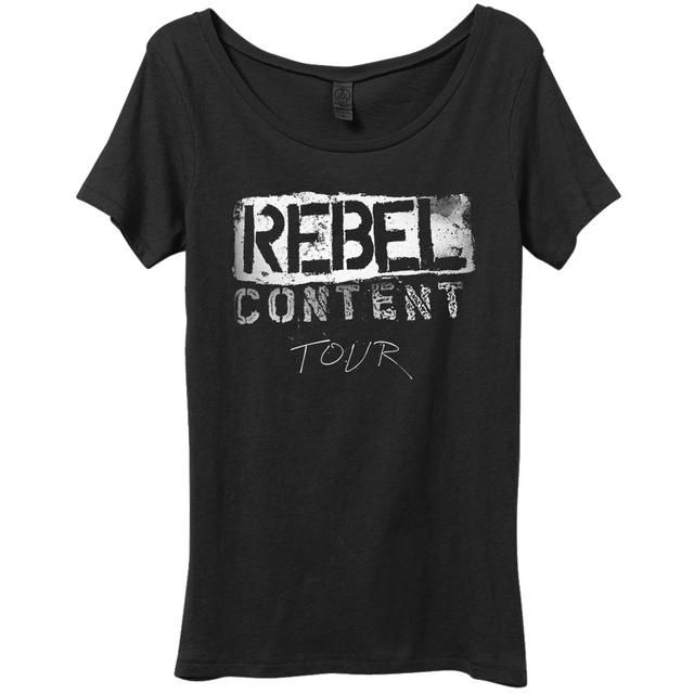 Neil Young Rebel Content Organic Womens Scoop T-shirt