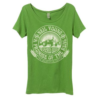 Neil Young Tractor Seal ORGANIC Womens Scoop T-Shirt
