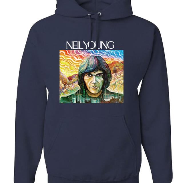 Neil Young Self Titled Organic Pullover Hoodie