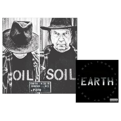 Neil Young Limited Edition Poster + Earth 2CD