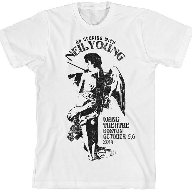 Neil Young Commemorative Boston Performance - Boston Fiddle Unisex White T-Shirt
