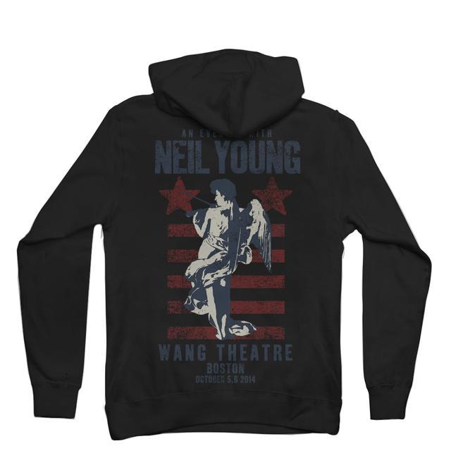 Neil Young Commemorative Boston Performance - Boston Fiddle Hoodie