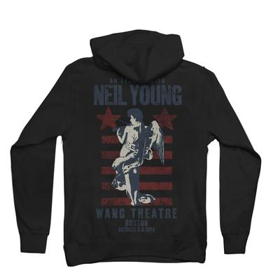 Neil Young Commemorative Boston Performance - Boston Fiddle Hoodie