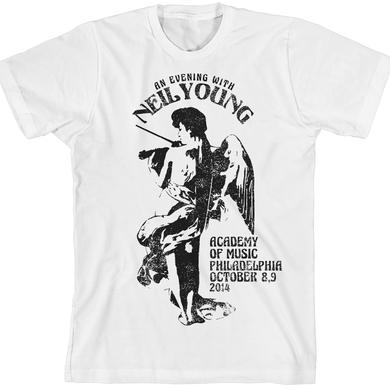 Neil Young Philadelphia Fiddle White Unisex T-Shirt