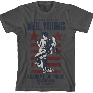 Neil Young Philadelphia Fiddle Grey Unisex T-Shirt