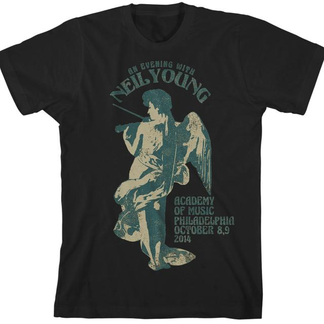Neil Young Philadelphia Fiddle Black Unisex T-Shirt
