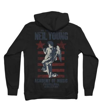 Neil Young Philadelphia Fiddle Zip Up Hoodie