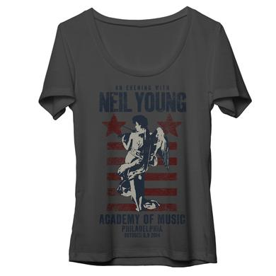 Neil Young Philadelphia Gray Womens T-Shirt