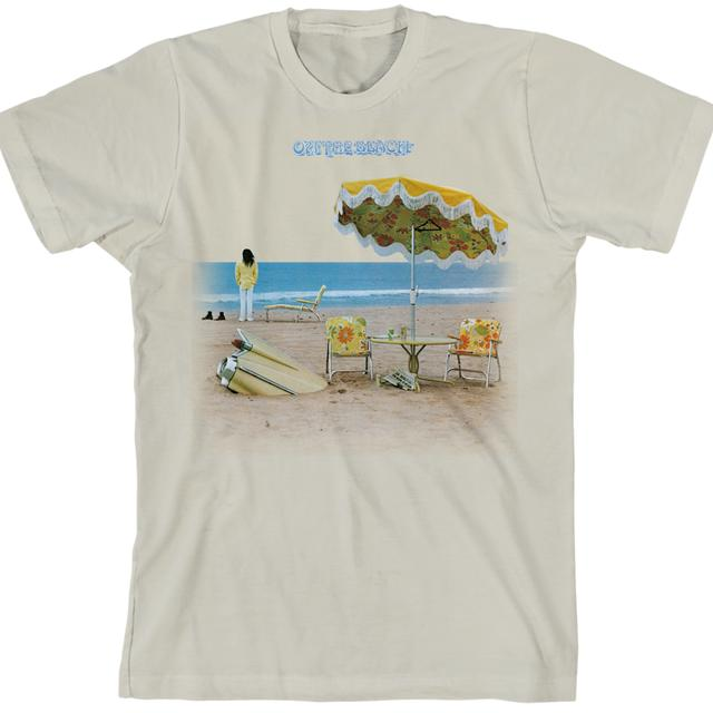 Neil Young On The Beach 100% Organic Cotton T-Shirt