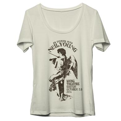 Neil Young Commemorative Boston Performance Natural Womens T-Shirt