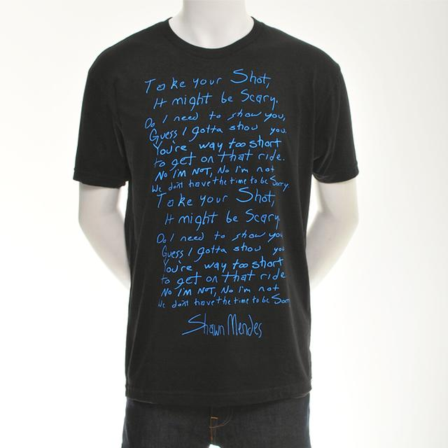 Shawn Mendes Take Your Shot Lyric Tee