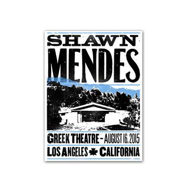 Shawn Mendes Poster | Greek Theatre Hatch Show