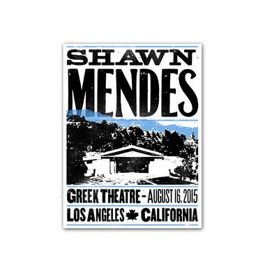 Shawn Mendes Poster | Greek Theatre Hatch Show