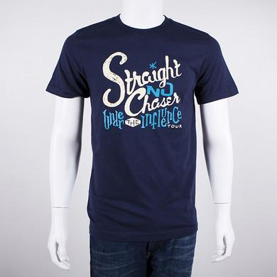 STRAIGHT NO CHASER Lettering T-Shirt (Navy)