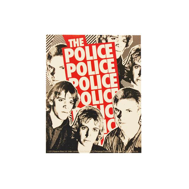 The Police Red Logo Sticker