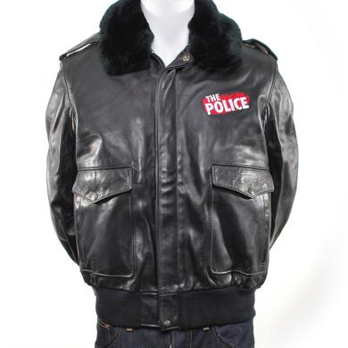 The Police Leather Jacket With Fur Collar