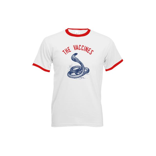 The Vaccines Snake Men's White and Red Ringer Tee