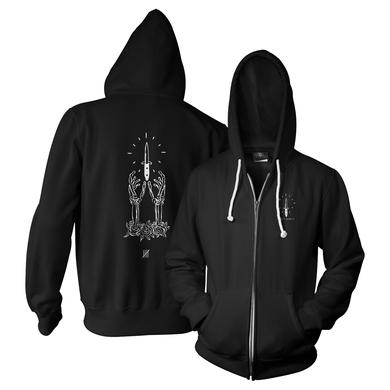 Into It Over It Dagger Zip Up Hoodie