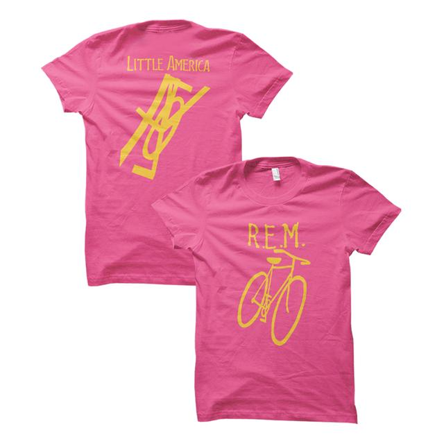 R.E.M Little America Bicycle Women's Throwback Tee
