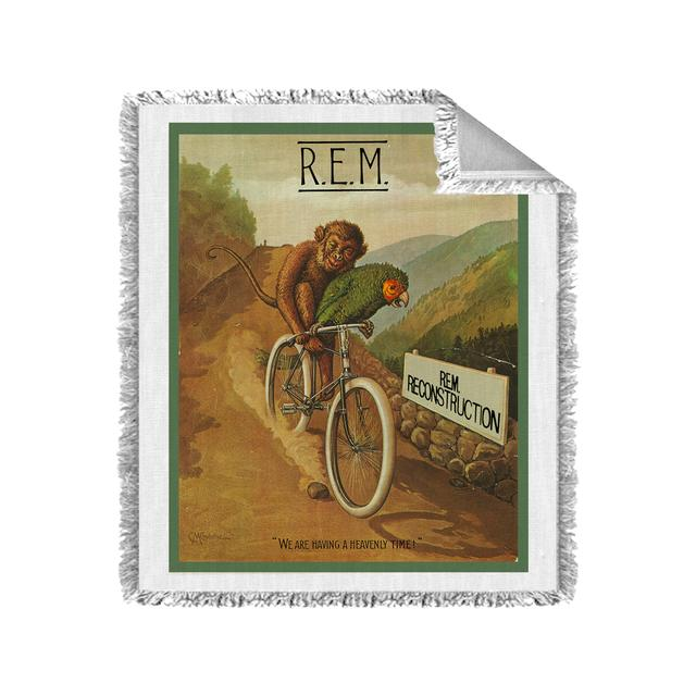 R.E.M Monkey on a Bicycle Blanket