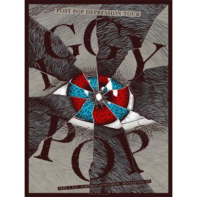 Iggy Pop Minneapolis Show Poster 4/4/16