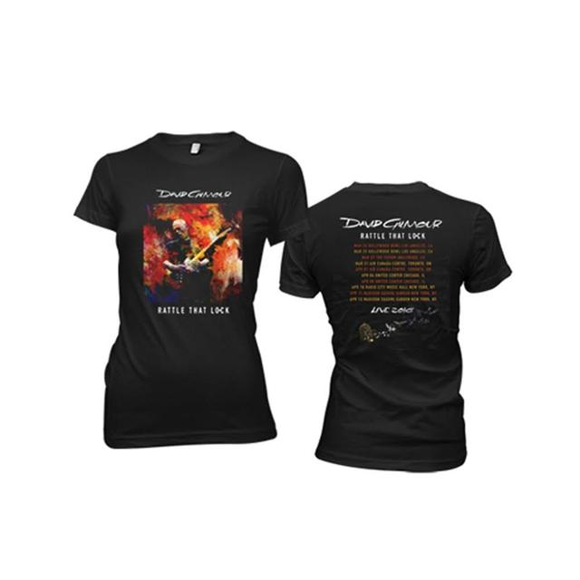 David Gilmour Women's Rattle That Lock Brushstroke US Tour T-Shirt