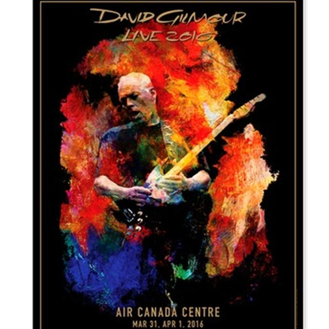 David Gilmour Live 2016 Air Canada Centre Lithograph