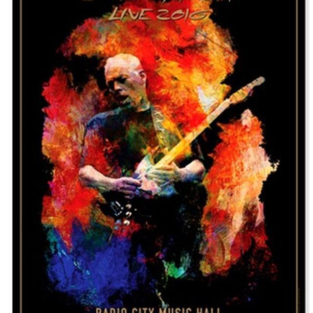 David Gilmour Live 2016 Radio City Lithograph