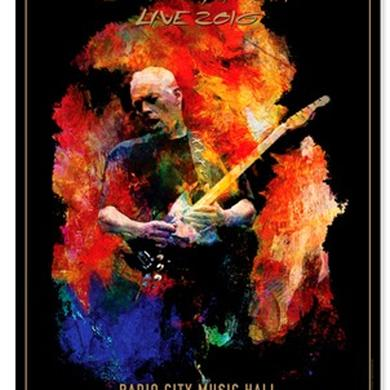 David Gilmour Live 2016 Radio City Lithograph