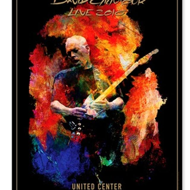 David Gilmour Live 2016 United Center Lithograph
