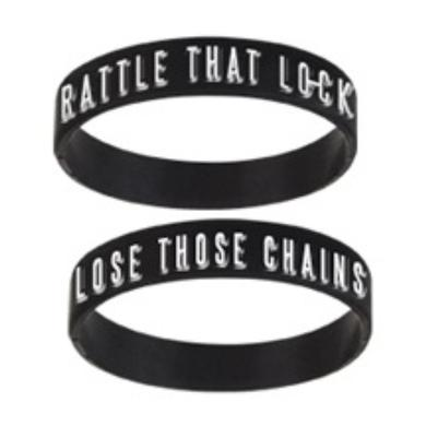 David Gilmour Rattle That Lock & Lose Those Chains Silicon Wristband
