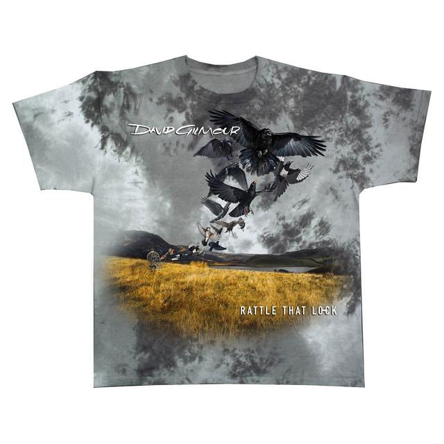 David Gilmour Rattle That Lock Cover Art Tie Dye US Tour T-Shirt